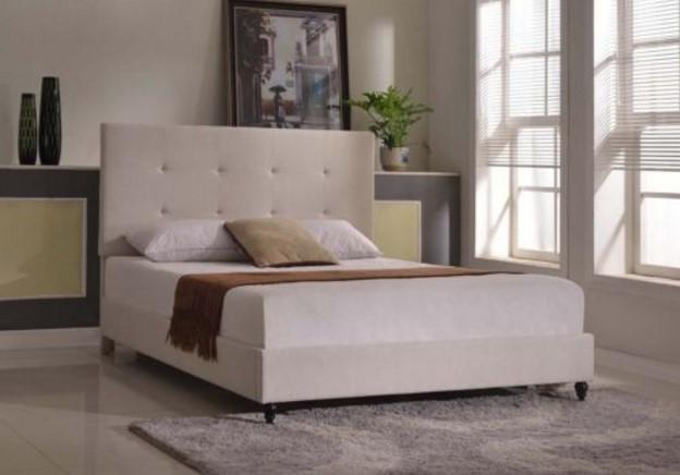 Platform Bed Frame Wood Headboard Upholstered bed