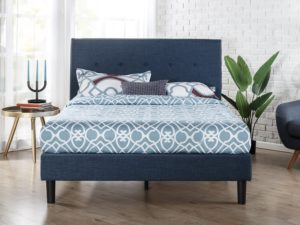 Best Upholstery Bed - Zinus Upholstered Navy Button