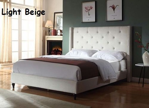Queen Full King Twin Size Beds Platform Upholstered Bed