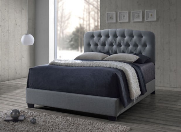 Romeo Contemporary Espresso Button-tufted Upholstered Bed
