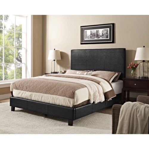 5 twin full queen king size upholstered bed black headboard frame