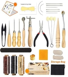 Leather sewing tools kit