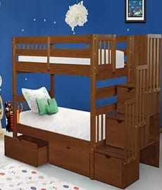 Bedz King best bunk bed with storage