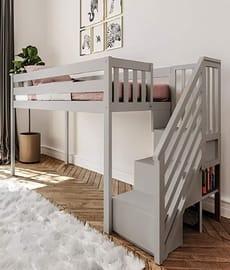 Max Lily grey loft bed