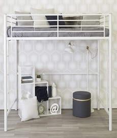 WE furniture modern metal loft bed