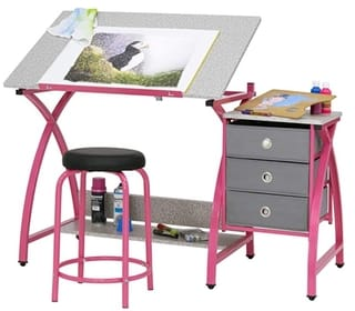 Comet Center with Stool Craft Table