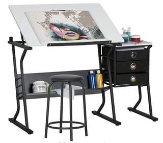 Studio Designs Eclipse Center Best Craft Table with storage