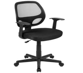 Flash Fundamentals Mid Back Black Office Chair