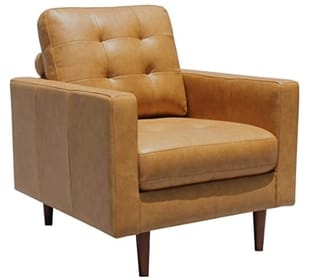Amazon Brand Rivet Cove Modern Leather Club Chairs