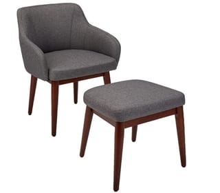 AmazonBasics Modern Accent Chairs with Ottoman