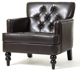 Christopher Knight Home Malone Leather Club Chair