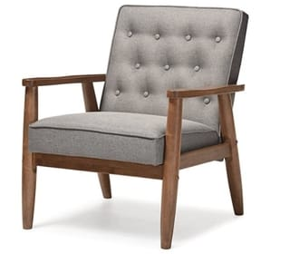 Baxton Studio Sorrento Upholstered Accent Chair