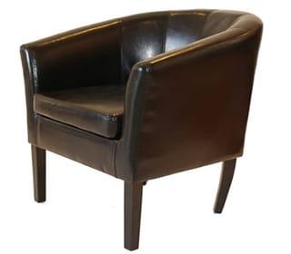 Home Life Armen Linon Brown Sofa Arm Club
